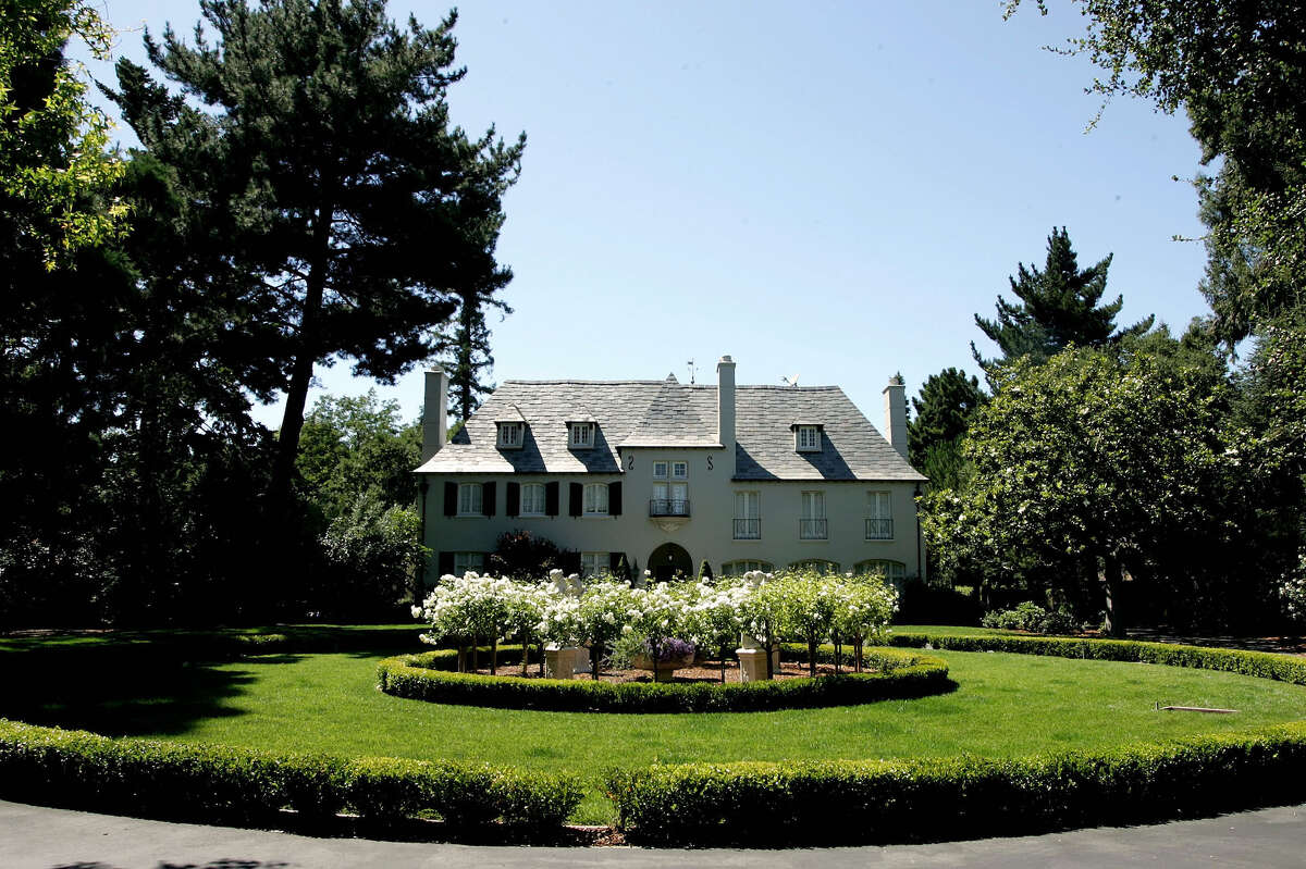 File photo of a mansion style home in Atherton, Calif.