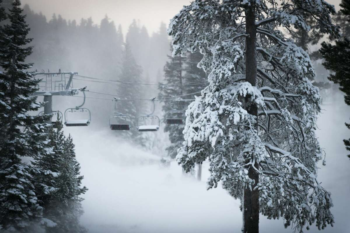 Tahoe ski resorts like Squaw Valley and Alpine Meadows are getting prepared to open for the 2020-21 season, making as much snow as possible, while coronavirus cases surge.