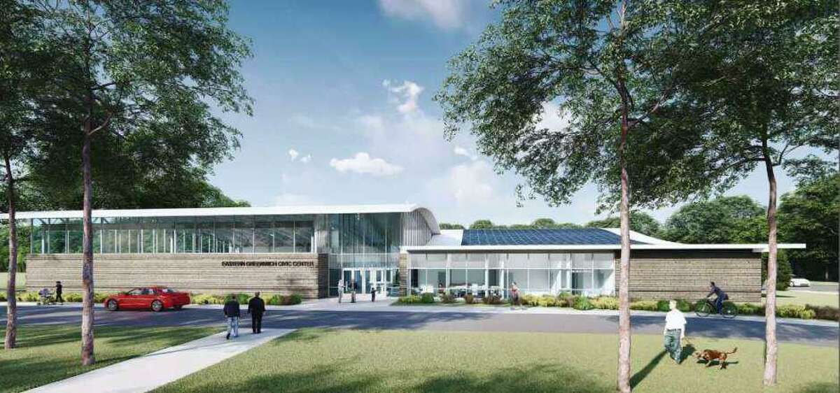 A rendering of the proposed new Eastern Greenwich Civic Center in Old Greenwich.