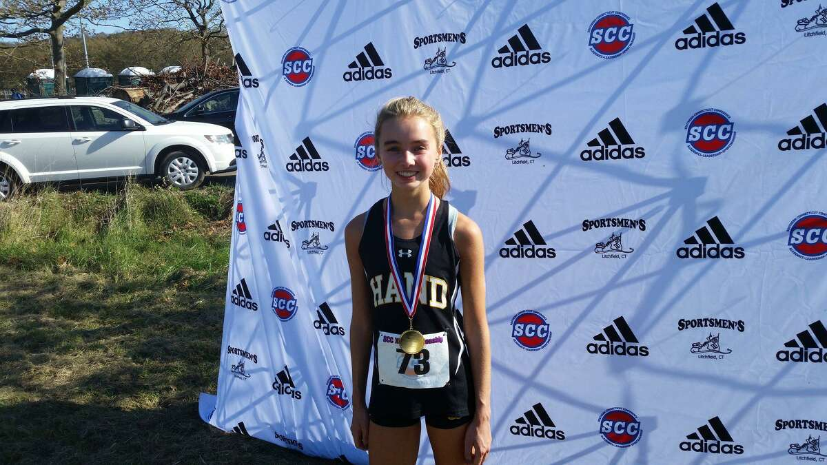 Anna Steffen of Hand wins SCC Girls Cross Country A Division in course record 18:46