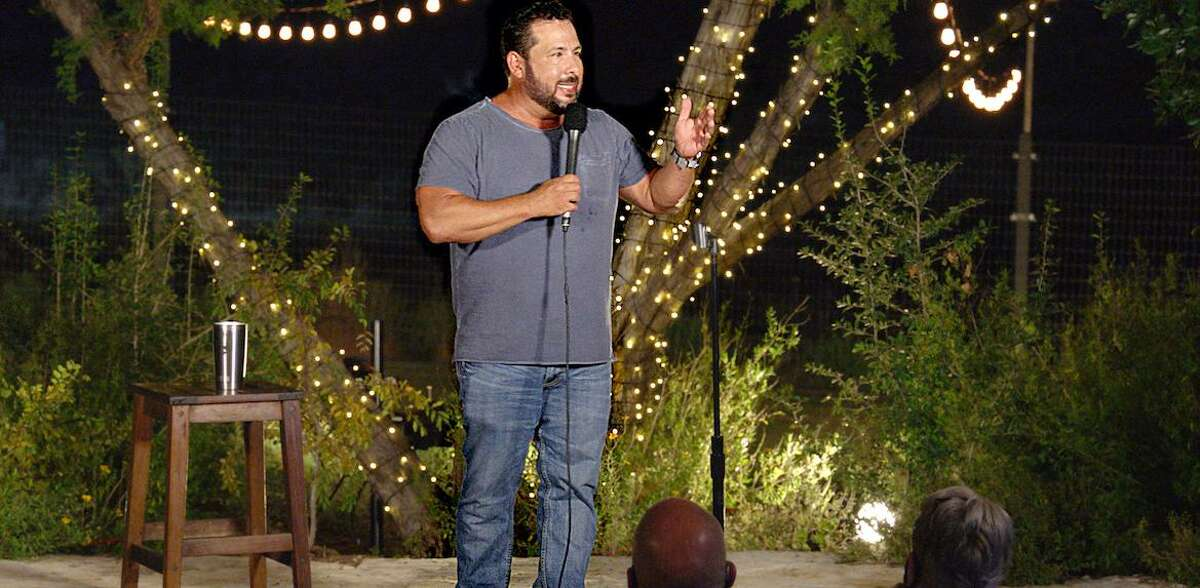 """Comedian Steve Treviño's latest special, """"My Life in Quarantine,"""" was filmed at Canyon Lake before a masked, socially distanced audience."""