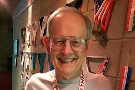 Midland's Wendell Dilling wears one of his 155 Michigan Senior Olympics medals. (Photo provided/Wendell Dilling)