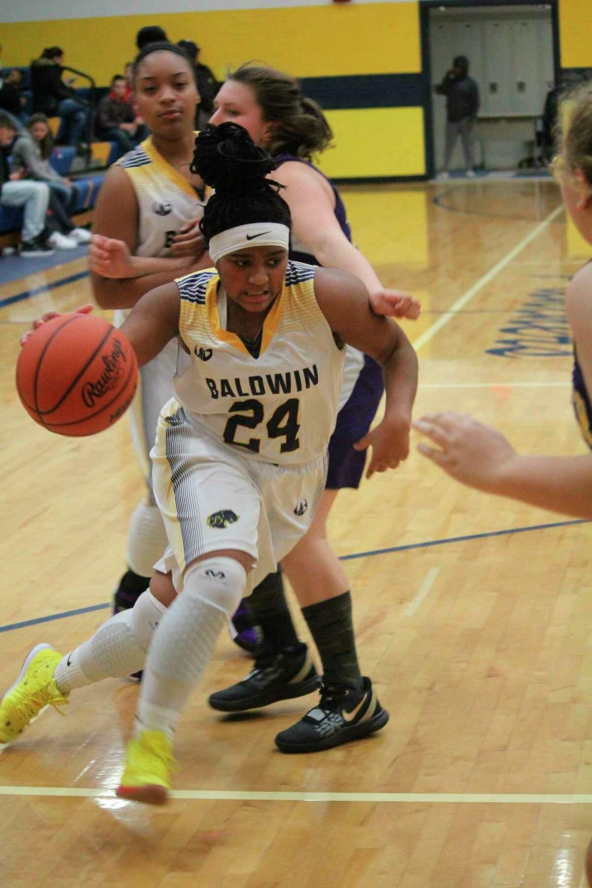 Baldwin's Cierra Pieske drives to the basket during action last season. (Star photo)