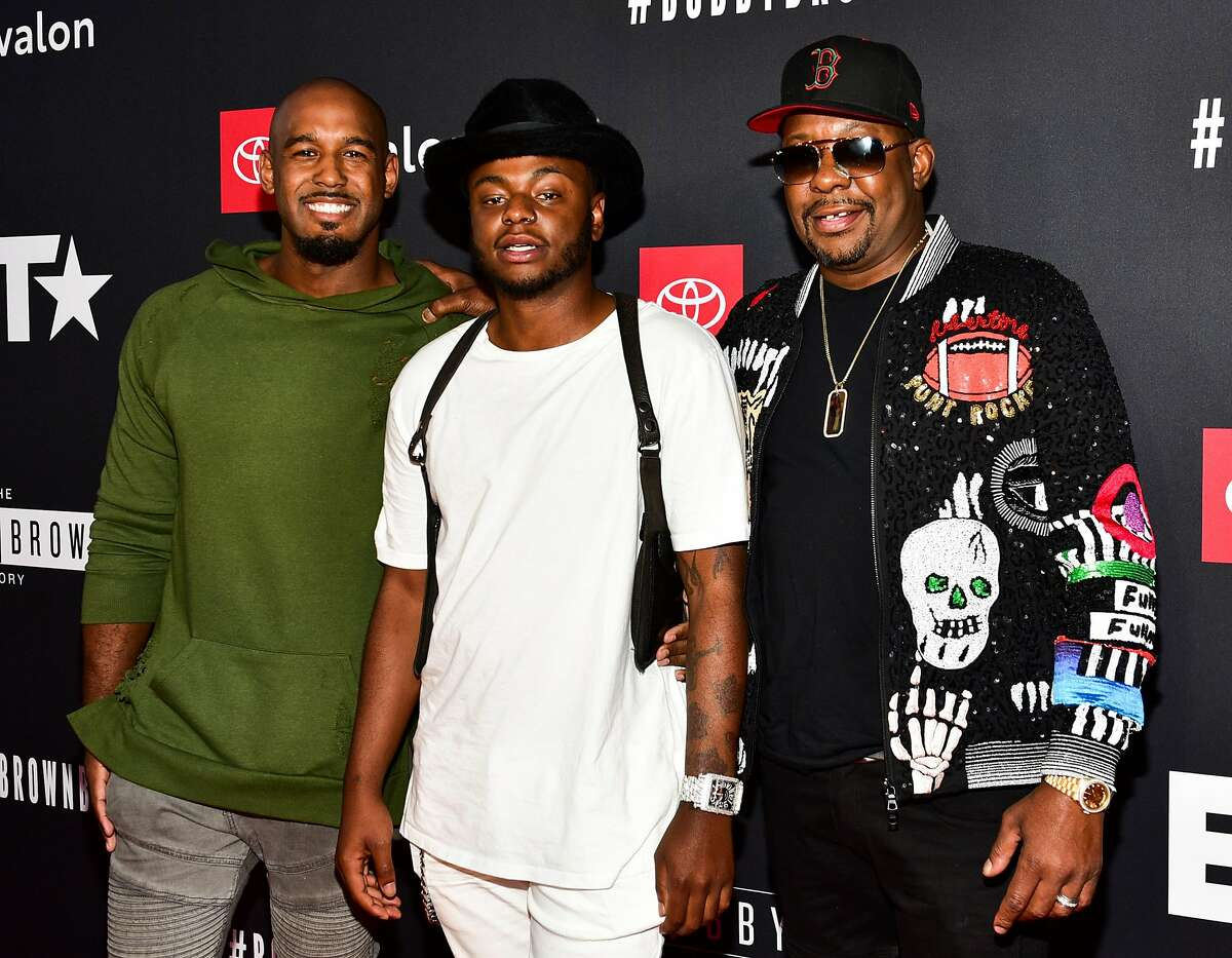 FILE - NOVEMBER 18: Bobby Brown Jr., musician Bobby Brown's 28-year-old son, was found dead at his home in Los Angeles on November 18. HOLLYWOOD, CA - AUGUST 29: (L-R) Landon Brown, Bobby Brown Jr., and Bobby Brown arrive at the premiere screening of