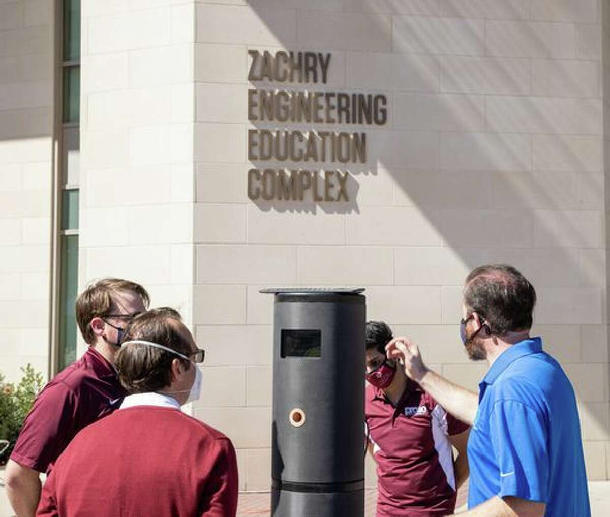 Researchers at Texas A&M University and Worlds Inc., a Dallas-based artificial intelligence company, have developed a breathalyzer kiosk that can detect COVID-19.