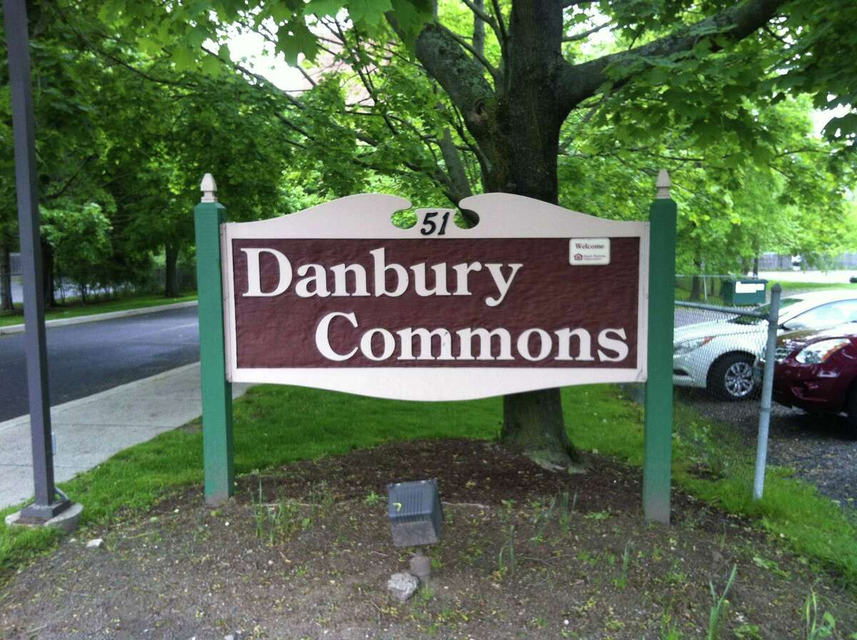File photo outside the Danbury Commons apartment complex on Main Street.