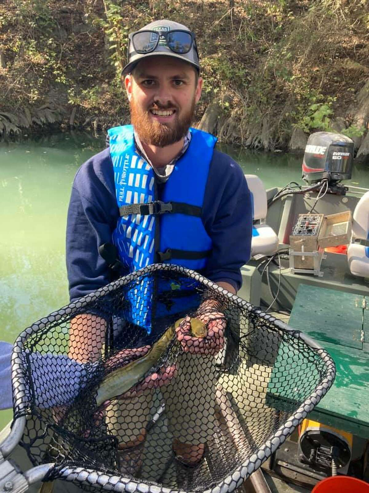 Staff members at Inland Fisheries San Antonio District said they caught and released their first-ever America eel at Media River during a recent Guadalupe Bass survey conducted earlier this month.