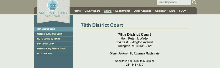 Jessica Englebrecht, 33, of Scottville, was arraigned in Mason County 79th District Court for allegedly embezzling more than $20,000 from 11 vulnerable adults. Englebrecht was appointed as a guardian and/or conservator by the Mason County Probate Court for the adults from 2017 to 2019. She allegedly used her position of power to gain control over her clients' finances. (Screenshot/Mason County Court website )
