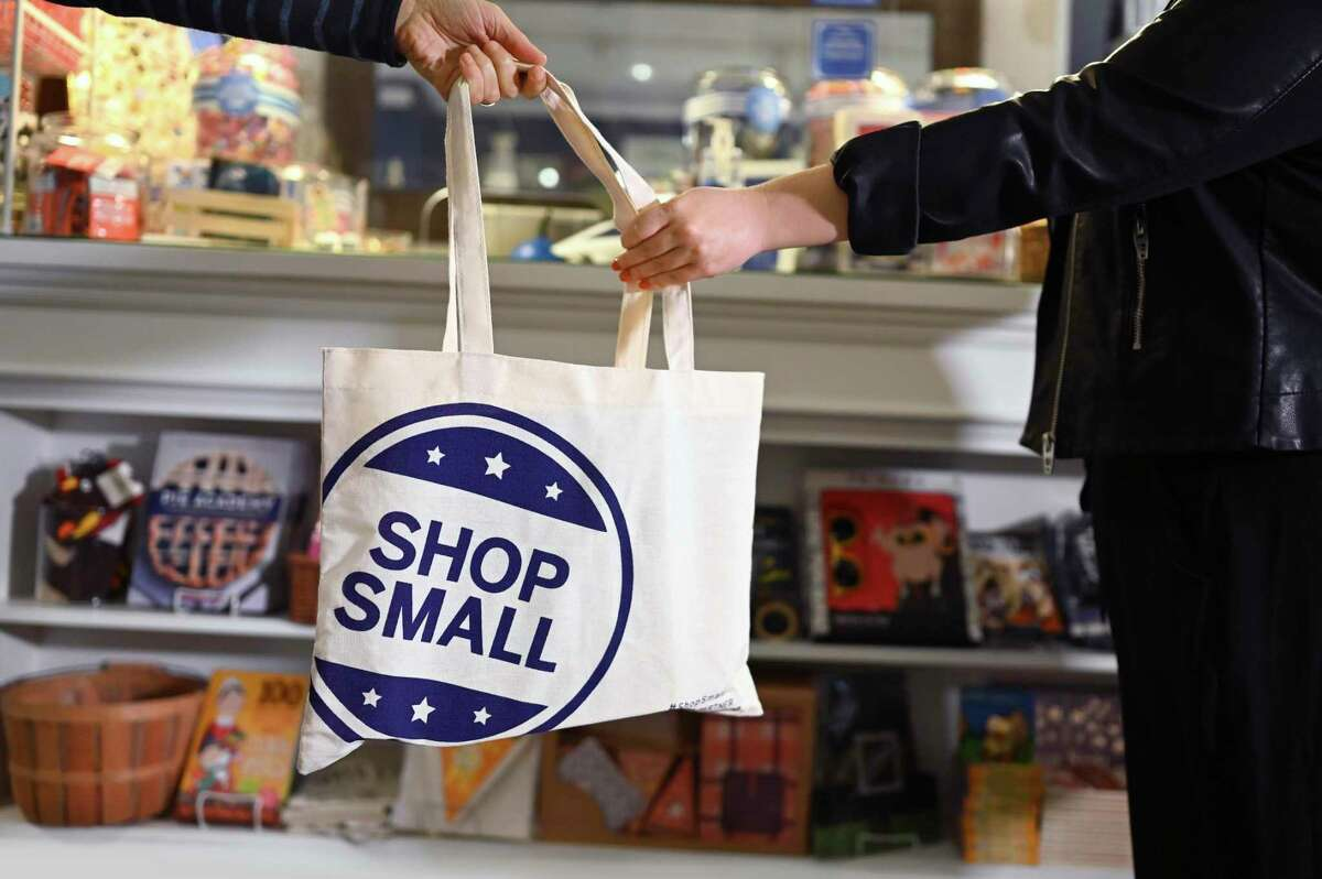 IMAGE DISTRIBUTED FOR AMERICAN EXPRESS - In this image taken on Tuesday, Nov. 3 2020, Annie's Blue Ribbon General Store in Brooklyn, NY prepares for Small Business Saturday, founded by American Express in 2010 to encourage consumers to Shop Small, this year on November 28, 2020. (Diane Bondareff/American Express via AP Images)