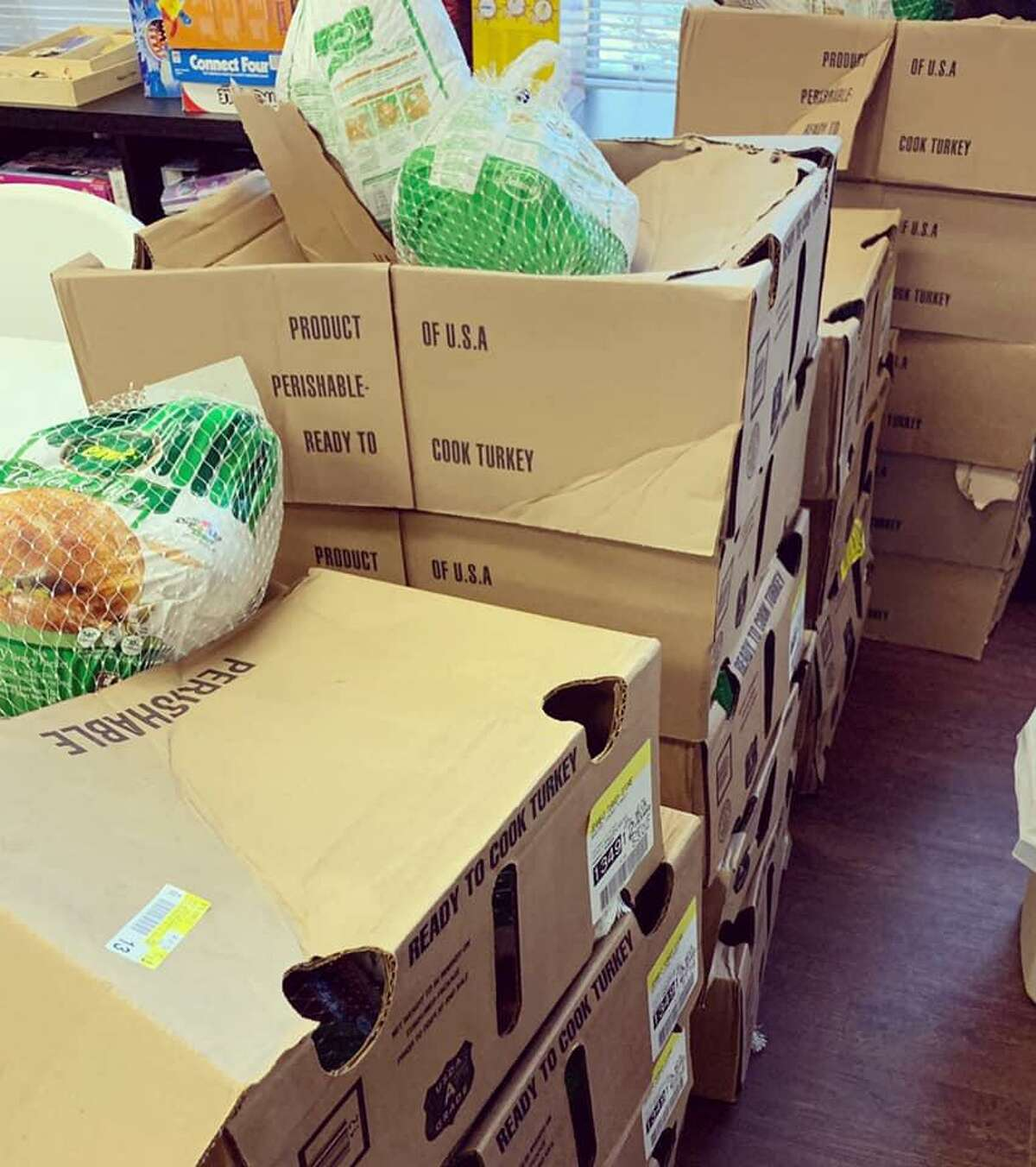 Cy-Hope volunteers have worked to distribute food to families in need, receive donations from the community and organize the shipments for future use.
