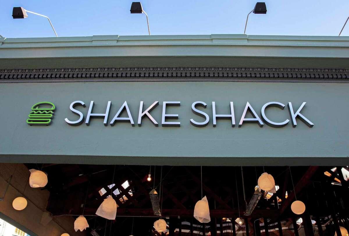 A Shake Shack storefront in San Francisco, Calif.