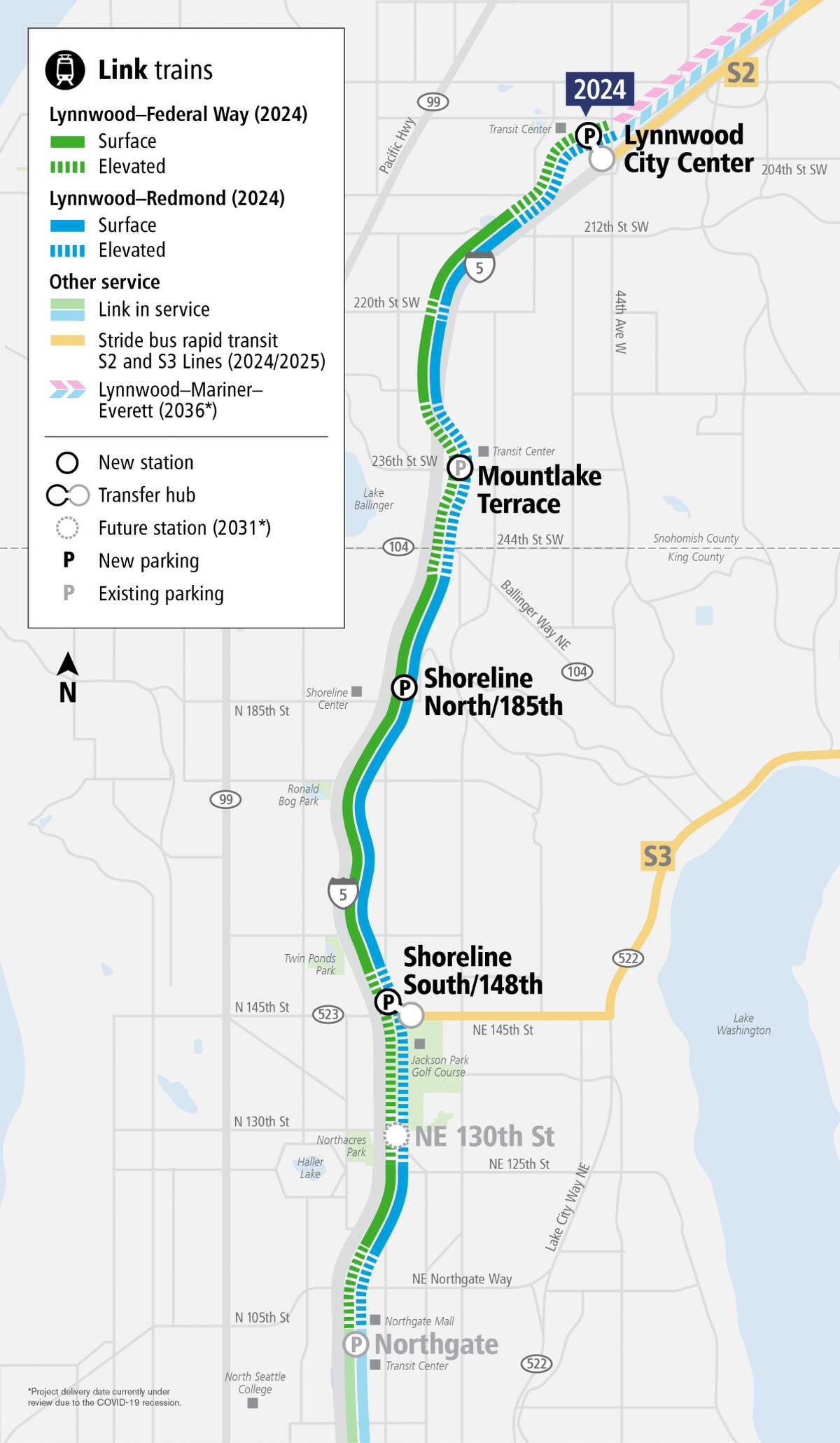 Southbound I-5 to close in Mountlake Terrace this weekend