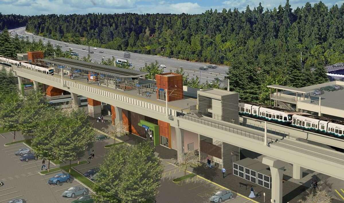 Rendering of the new Mountlake Terrace station.