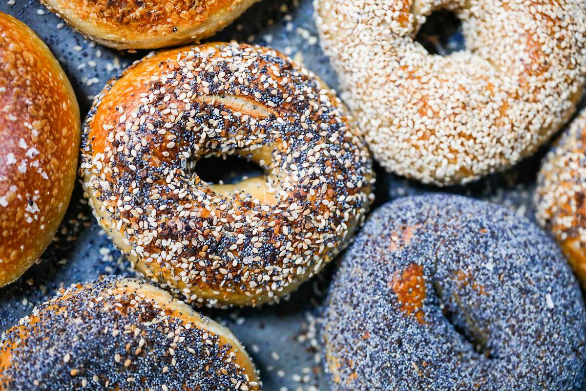 Chicken Dog Bagels specializes in naturally leavened bagels, sold at Pizzahacker on Sundays in San Francisco.