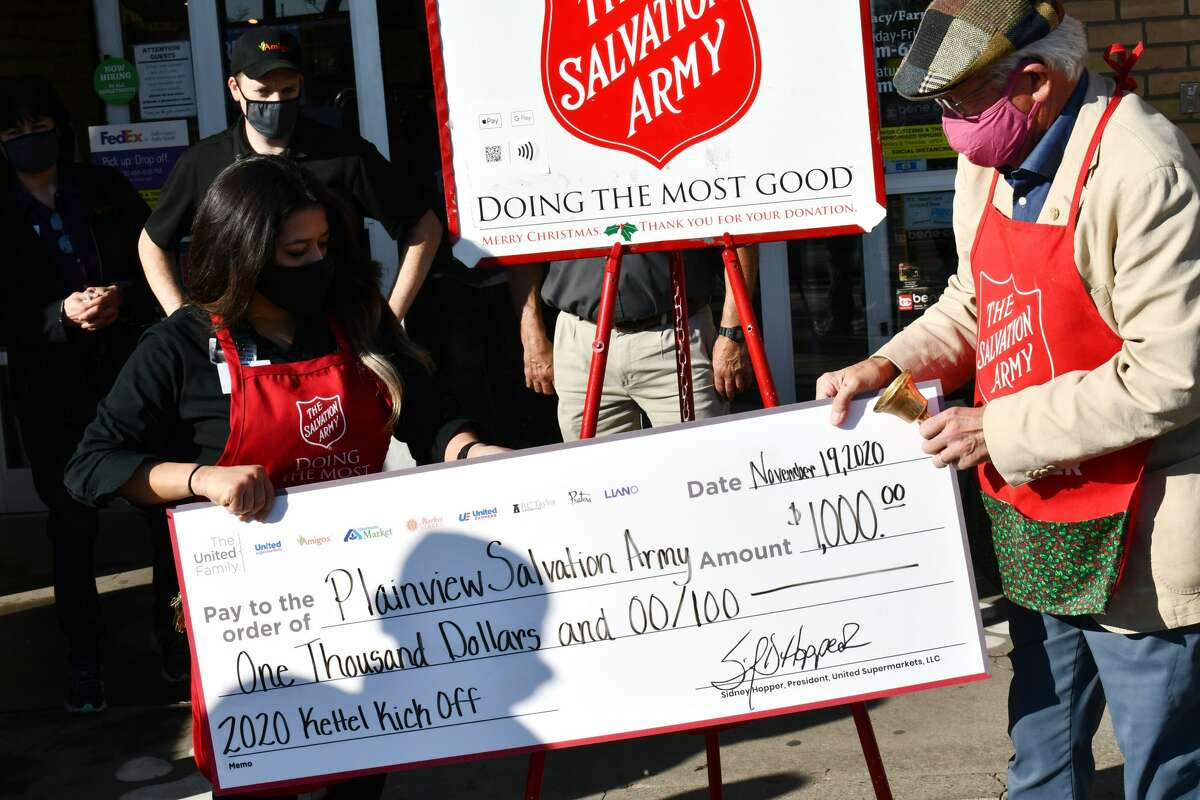 The Plainview chapter of the Salvation Army kicked off its annual Red Kettle campaign with its first donations of the season on Friday (Nov. 20). The campaign officially starts Nov. 27.