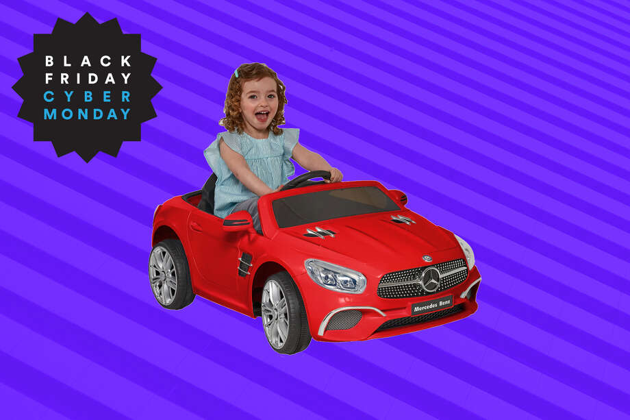 12 Volt Mercedes SL-400 Red Battery Operated Ride On, $99 ($50 off) at Walmart for Black Friday Photo: Walmart/Hearst Newspapers
