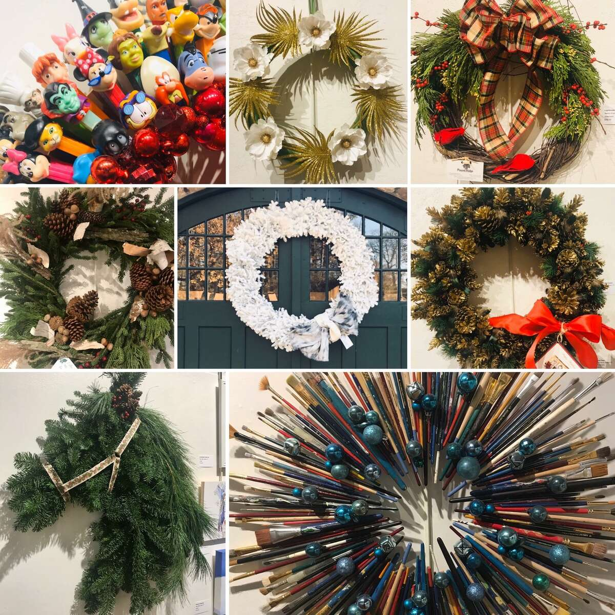 The Carriage Barn Art Center's 5th annual wreath auction and small works exhibit, Deck The Walls, opens Nov. 29, the first Sunday after Thanksgiving. The exhibit is opening on the same day as the Carriage Barn's Artists Sunday event.