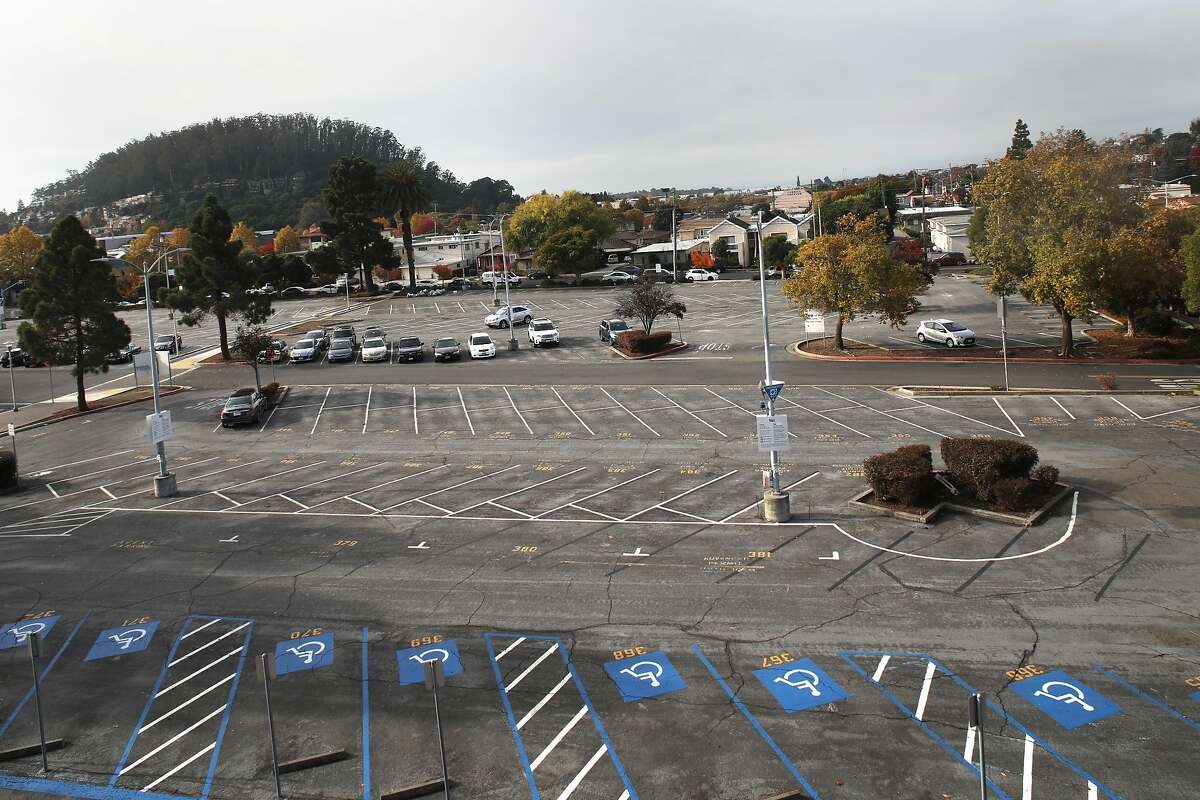 The parking lot at BART's El Cerrito Plaza Station, which is slated to be developed as housing.