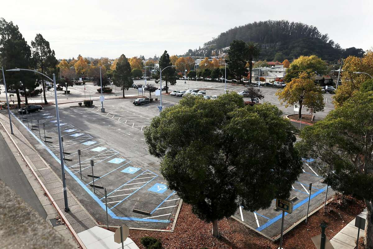 The BART El Cerrito Plaza Station parking lot, which is to be the location of 800 units of new housing.