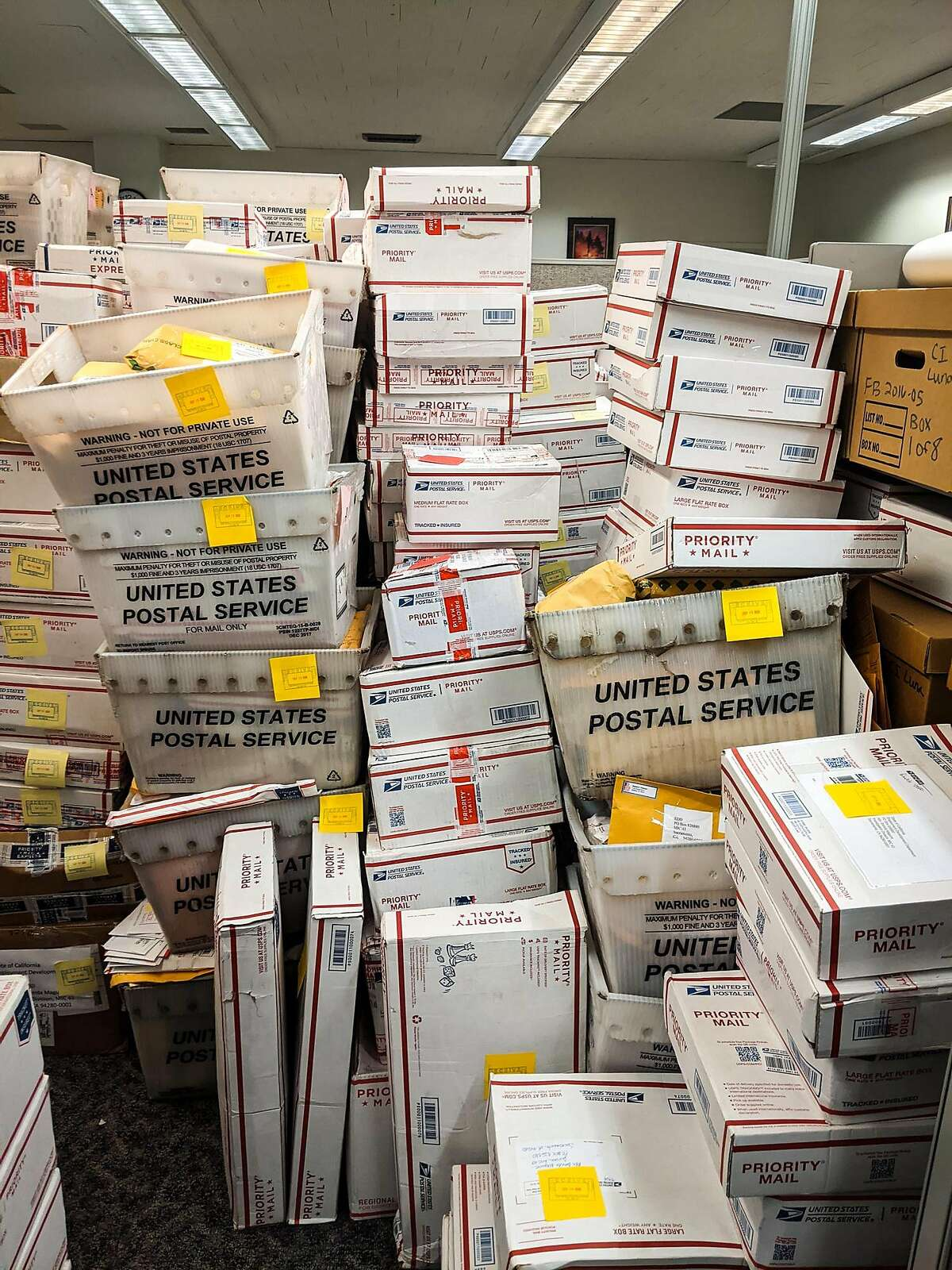 The California State Auditor asked the Employment Development Department in March 2019 to stop putting full Social Security numbers on letters it sends out, but it continues to do so on the vast majority of mail, including some pieces found in this vast pile of mail returned to EDD.