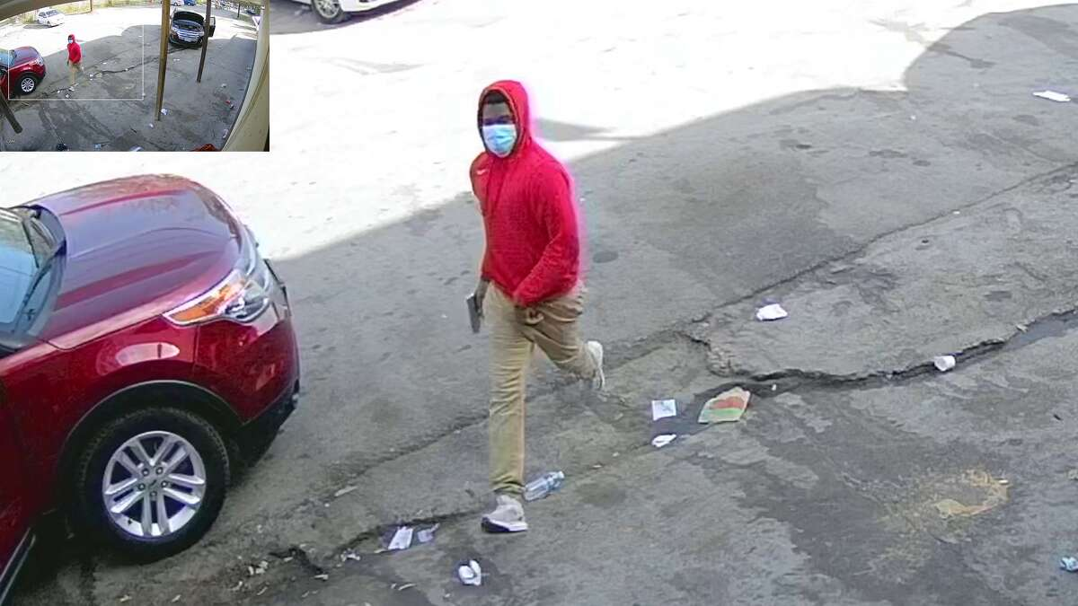 Police are seeking the identity of a man caught on video in a fatal shooting Thursday near Houston's Fifth Ward in the 1900 block of Jensen.