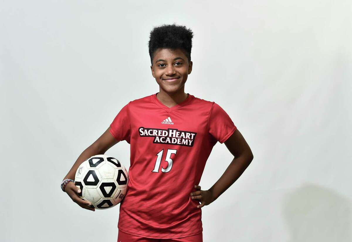 New Haven, Connecticut - Tuesday, November 26, 2019: Name: Jada Ijeh All Area: Soccer School: Sacred Heart Academy