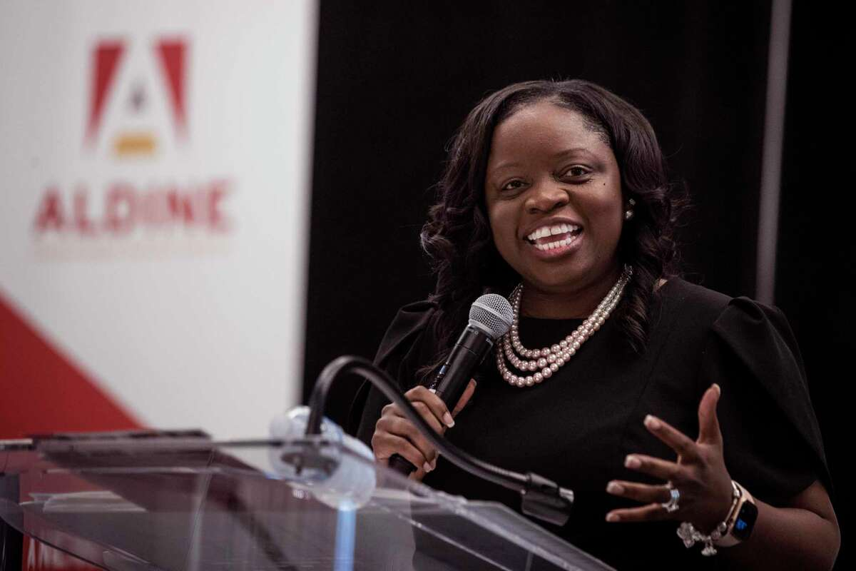 Aldine ISD Superintendent LaTonya Goffney, pictured in January, joined 13 other Texas district leaders and several business and education advocacy groups Thursday to call for continuing to give standardized tests to students in the spring. The group did not support issuing A-through-F letter grades under the state's accountability system.