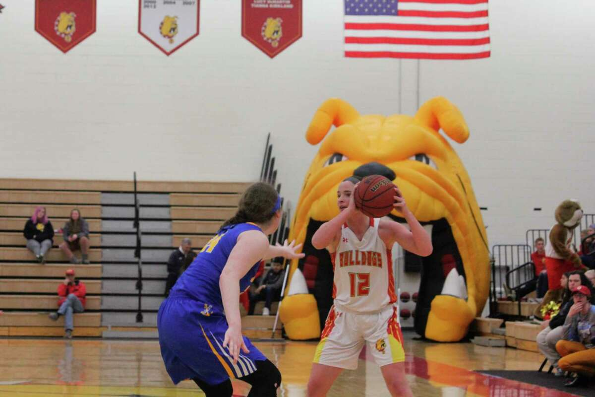 Ferris State's Samantha Krauss looks to make a play during action last season. (Pioneer file photo)