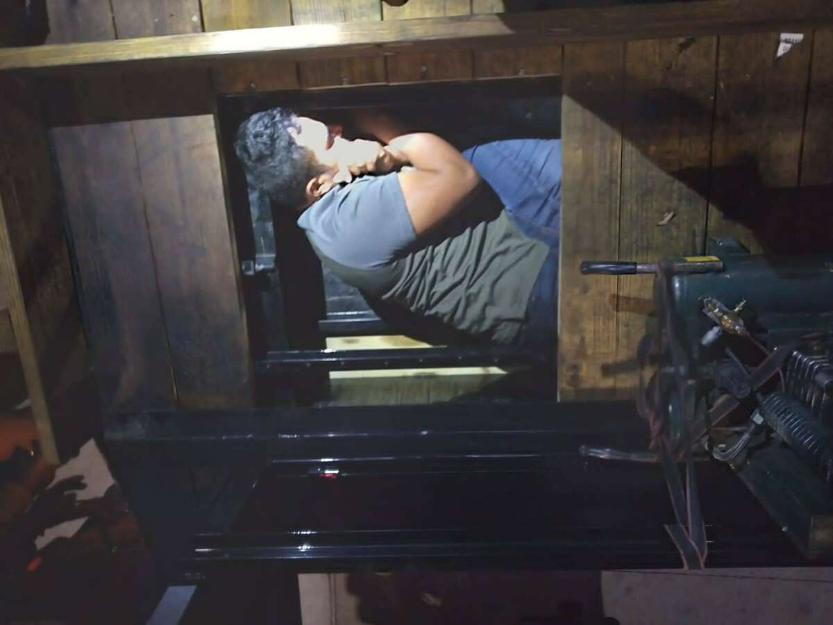 U.S. Border Patrol agents discovered 26 immigrants inside a false compartment of a flatbed trailer.