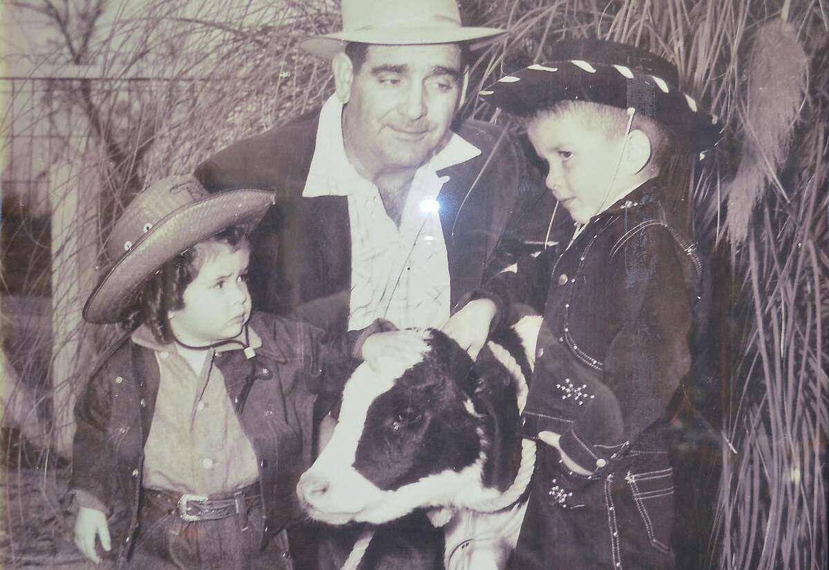 A young Rep. Jim Costa (D-CA) (right) with his father Manuel Costa (center) and cousin Johnell Wilt on the family's dairy farm in the Central Valley in the 1950s.