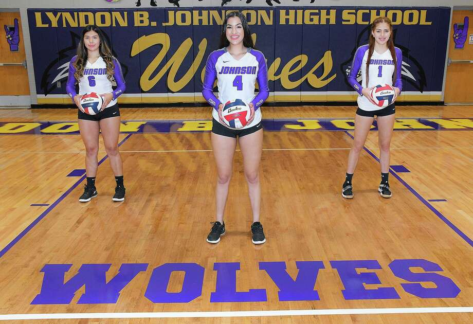 LBJ senior captains Perla Lara, Isabella Martinez and Leean Maldonado are leading the push for a bi-district title as the Lady Wolves face San Antonio Harlan at 7 p.m. Friday in Alice. Photo: Cuate Santos / Laredo Morning Times / Laredo Morning Times