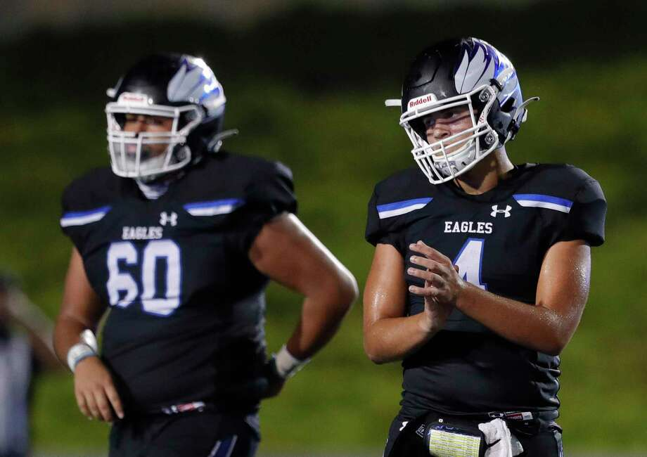 In this file photo, New Caney quarterback Jaydon Tutwiler-Drew (4) reacts after coming up short on fourth down during the fourth quarter of a District 8-5A high school football game at Randall Reed Stadium, Thursday, Oct. 22, 2020, in New Caney. Photo: Jason Fochtman, Houston Chronicle / Staff Photographer / 2020 © Houston Chronicle