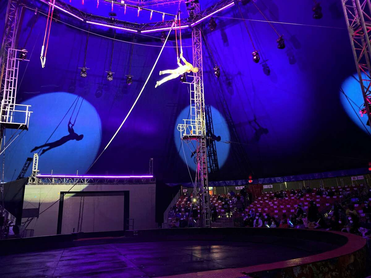 A trapeze artist at UniverSoul Circus.