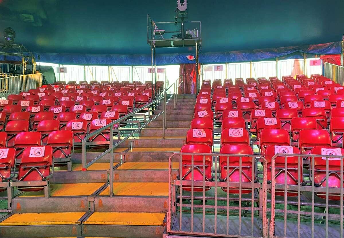 Amid the pandemic, seating is at half-capacity at UniverSoul Circus.