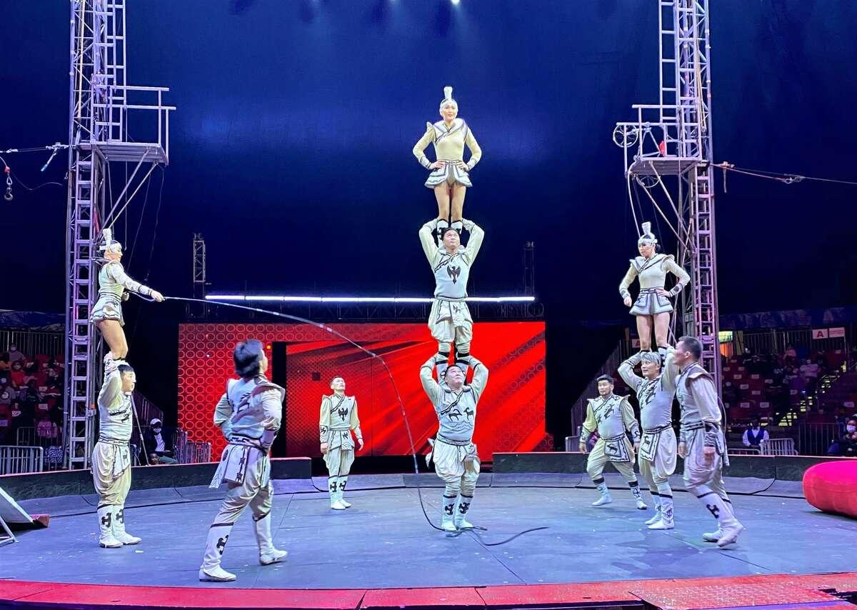 Acrobats at UniverSoul Circus.