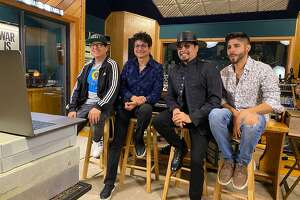 Houston's La Mafia watches the Latin Grammys from its recording studio.