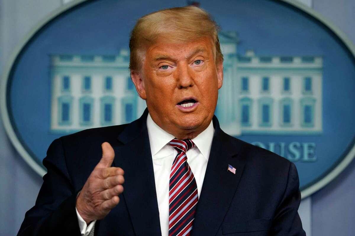 President Donald Trump speaks at the White House in Washington., D.C., on Nov. 5