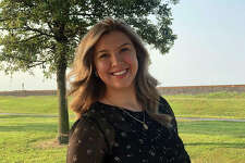 America Gutierrez-Trejo, a senior at Collinsville High School, is also the student board member this year.