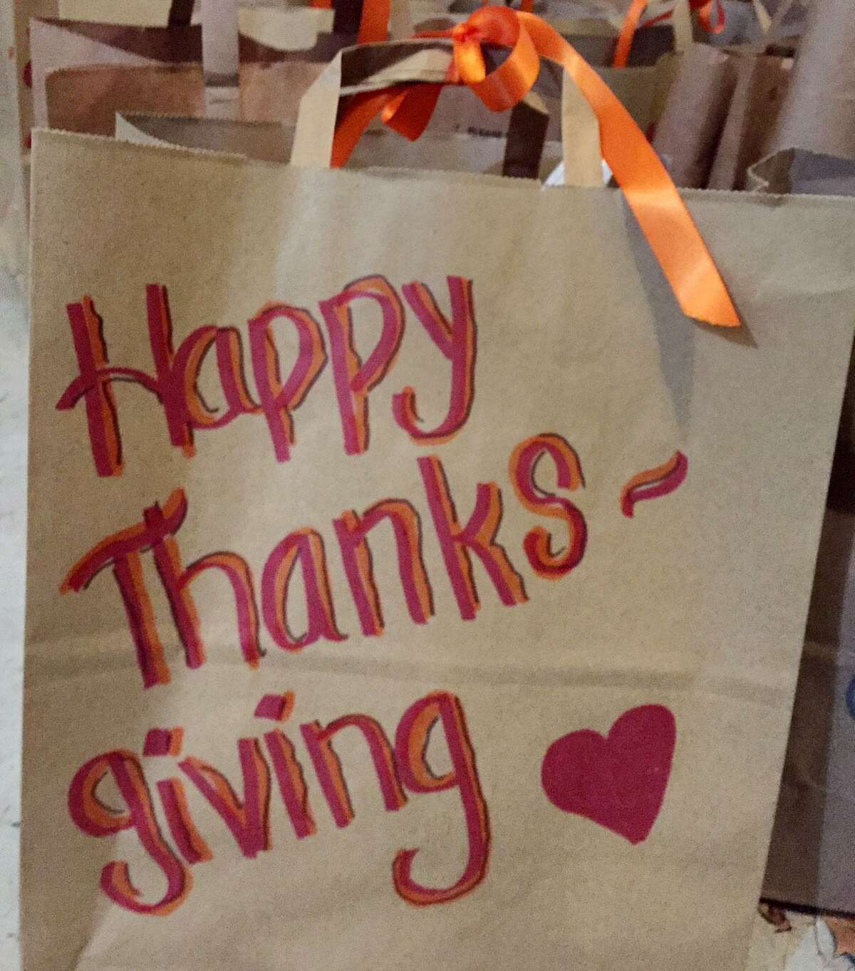 Toni Boucher of Wilton is putting out a last minute call for 100 paper bags containing five ingredients for Thanksgiving side dishes to go along with 500 turkeys being distributed to needy families.