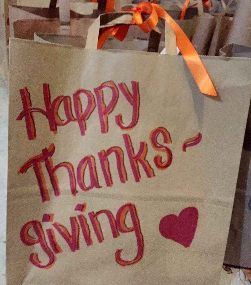 Toni Boucher of Wilton is putting out a last minute call for 100 paper bags containing five ingredients for Thanksgiving side dishes to go along with 500 turkeys being distributed to needy families. Photo: Toni Boucher Photo