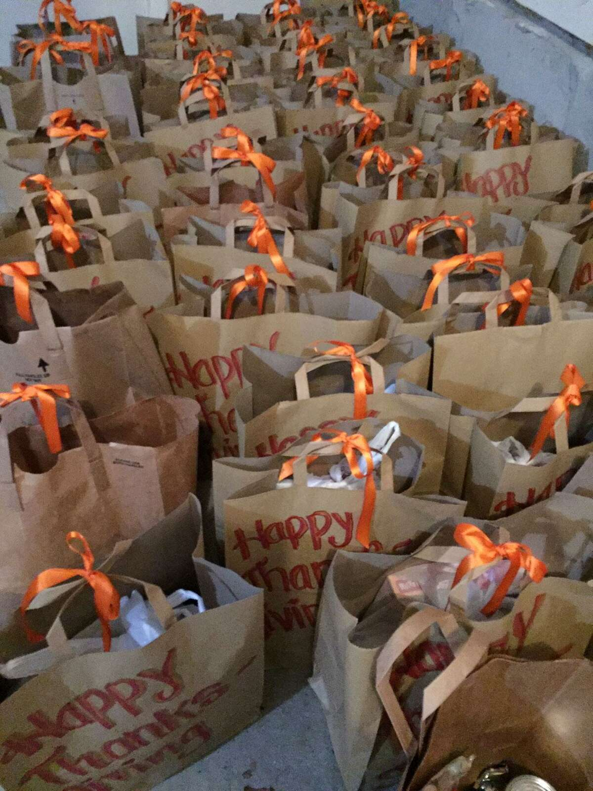 Toni Boucher of Wilton has collected 400 bags of Thanksgiving side dish fixings to go along with 500 donated turkeys, and needs 100 more by Saturday, Nov. 21, to meet her goal.