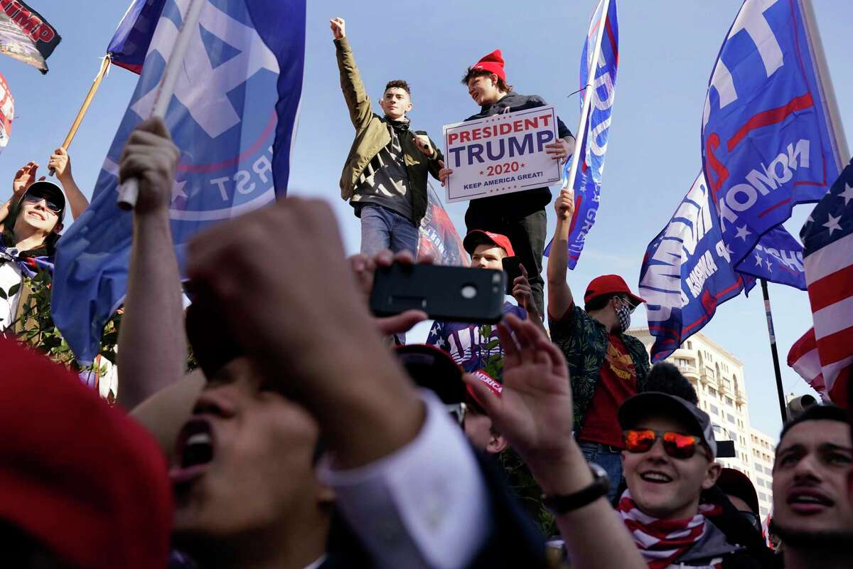 Supporters of President Donald Trump attend a pro-Trump march Nov. 14 in Washington.