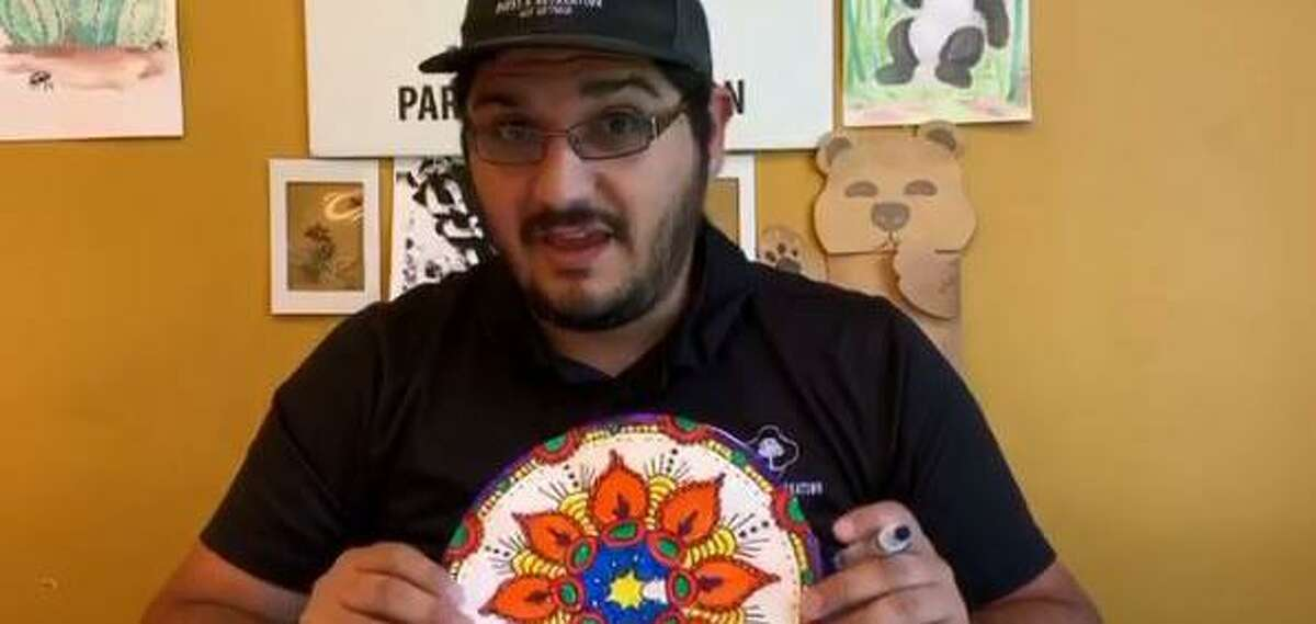 Who needs a coloring book when you can make your own geometric masterpiece? Educator David Jimenez of San Antonio Parks and Recreation teaches children how to make their own mandalas.