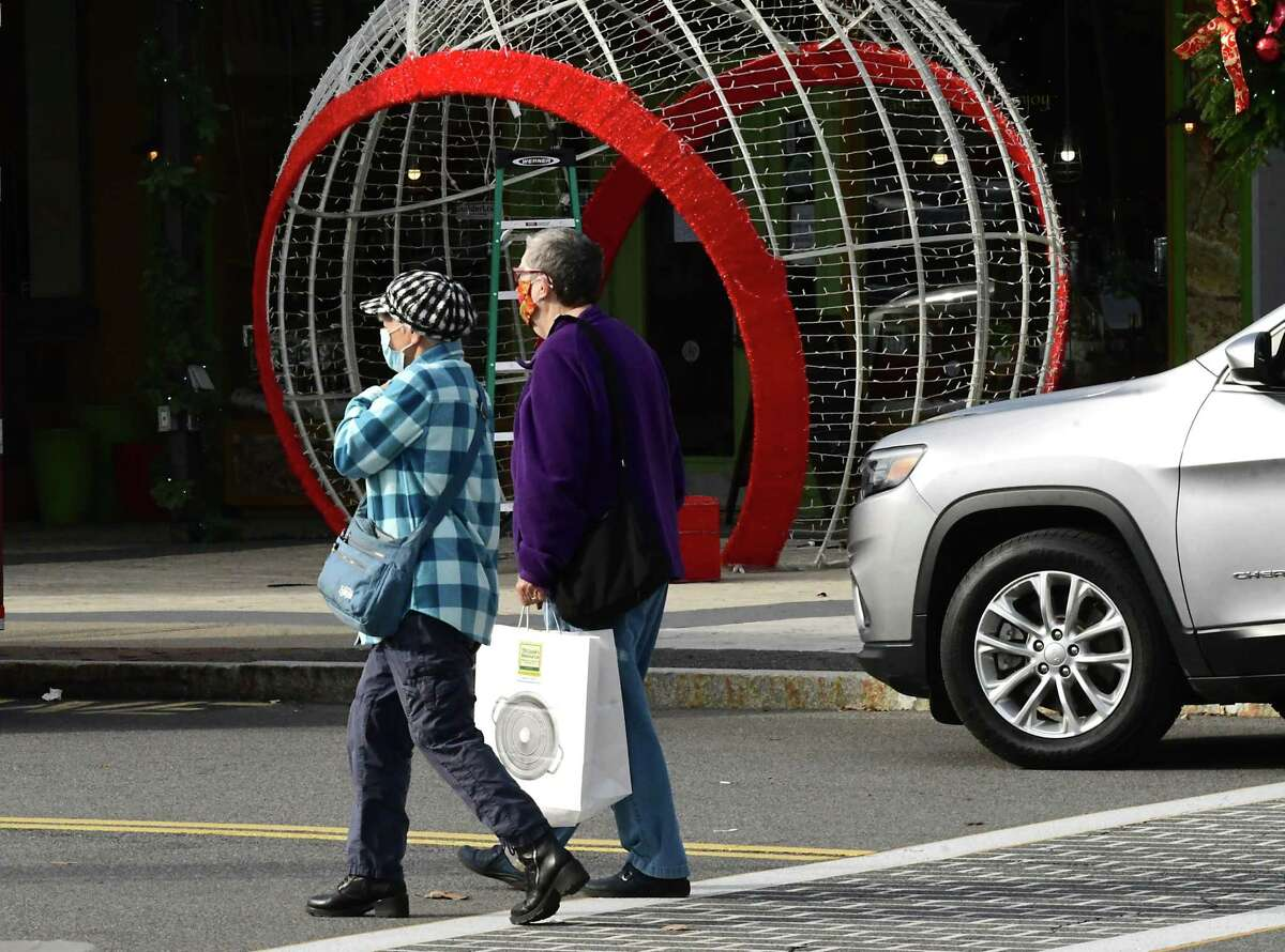 Shoppers are seen at Stuyvesant Plaza on Friday, Nov. 20, 2020 in Albany, N.Y. (Lori Van Buren/Times Union)