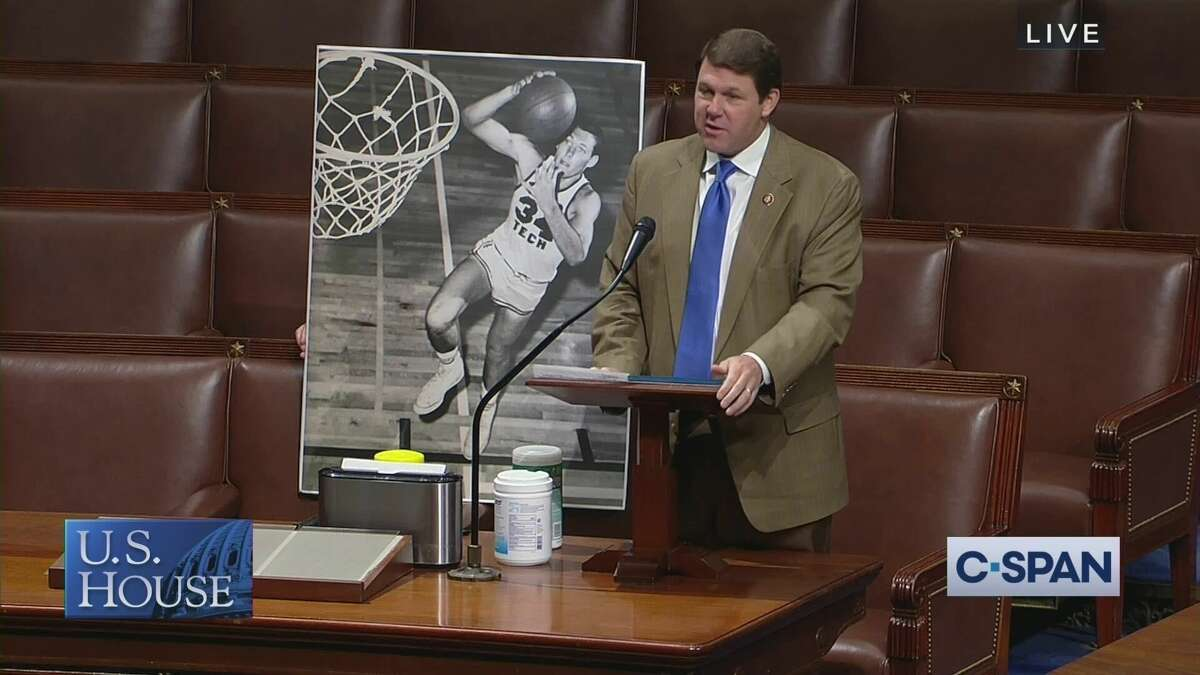 Congressman Jodey Arrington recognized his father Gene's induction into the Texas Panhandle Sports Hall of Fame on Thursday in Washington, D.C.