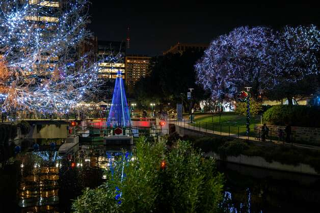 Museum Reach (free): The San Antonio River Authority added lights north of downtown in the Pearl District, near the Museum Reach, located between Grayson and Lexington streets. Its 30-foot musical tree can be found at the Lock & Dam at 510 Brooklyn Ave. It was placed on Nov. 16 and will stay in the area until Jan. 4. Photo: Jim Landers / © Landers Photography