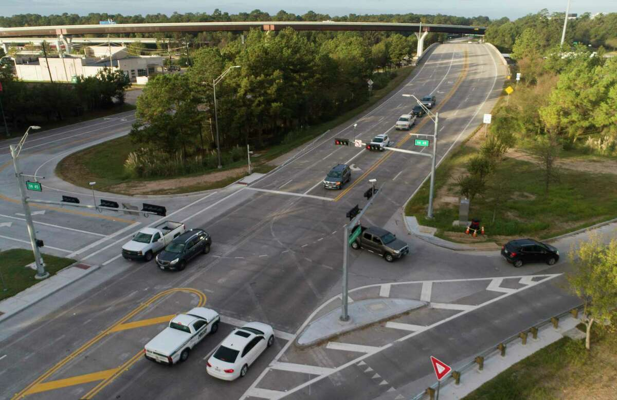 Precinct 3 Commissioner James Noack used funds from the 2015 $280 million road bond to construct a diamond interchange at Woodlands Parkway and Robinson Road.