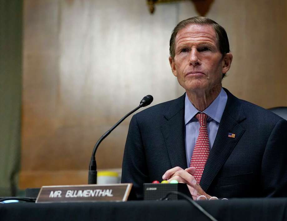 In this Nov. 10, 2020 file photo, Sen. Richard Blumenthal, D-Conn., speaks during a Senate Judiciary Committee hearing on Capitol Hill in Washington. Photo: Susan Walsh / Associated Press / Copyright 2020 The Associated Press. All rights reserved.