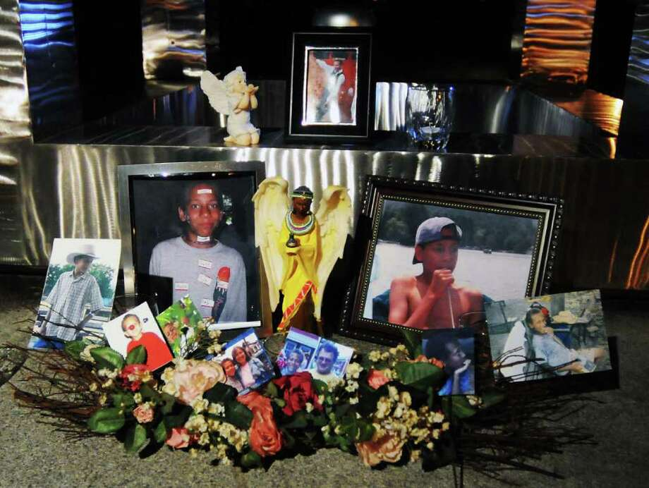 Photos of Jaliek Rainwalker on Nov. 1, 2008, at the New York State Missing Persons Memorial at South Swan and Madison Avenue in Albany. (Times Union archive) Photo: JAMES GOOLSBY / 00000934A