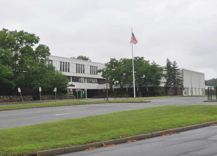 Ridgefield High School announed another COVID-19 case Friday. The person is among 232 students and 24 staff at the high school in quarantine. Photo: Macklin Reid / Hearst Connecticut Media